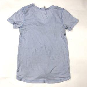 Lululemon Tops - Lululemon Striped V Neck Shirt Blue Size 6